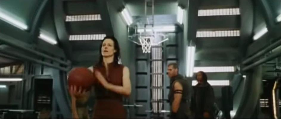 basketball scene in alien resurrection