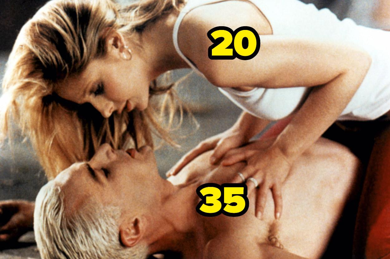 Sarah Michelle Gellar is 20 and James Marsters is 35
