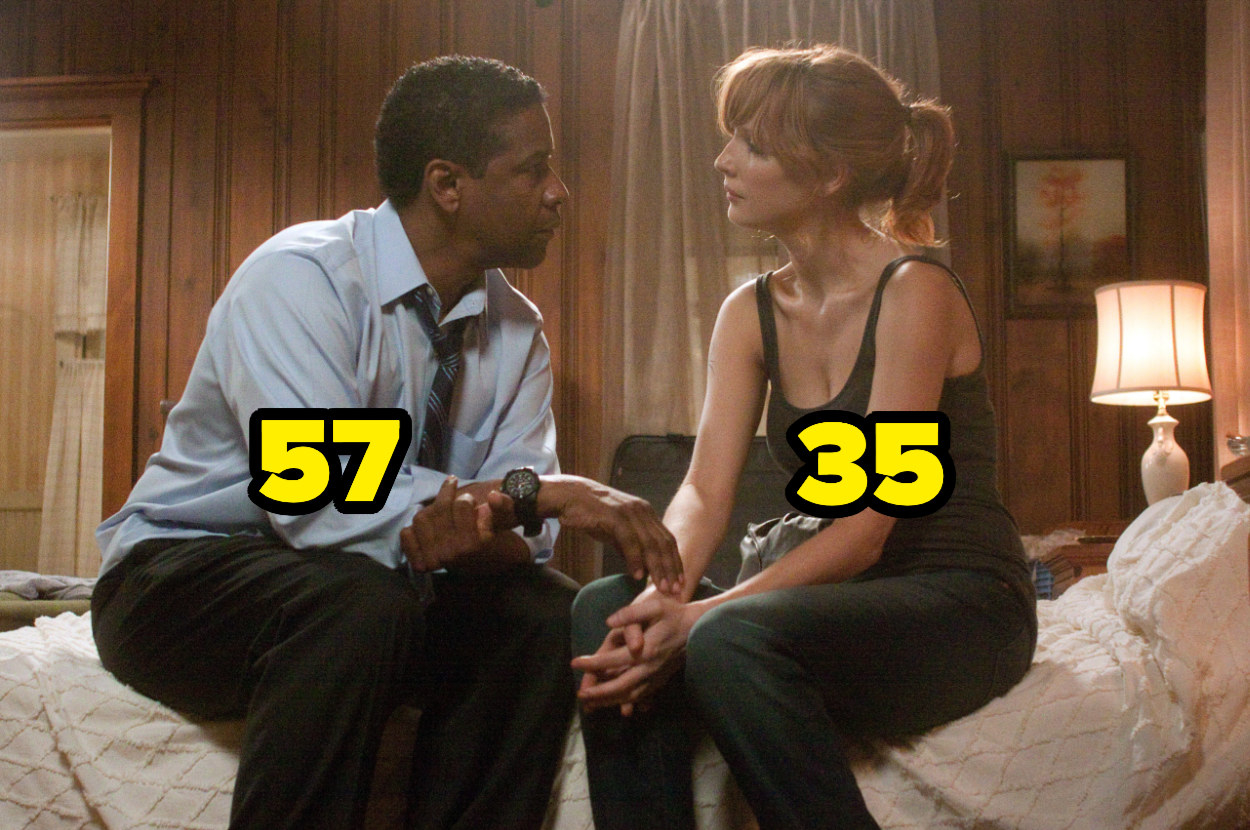 57-year-oldDenzel Washington on a bed with 35-year-old Kelly Reilly