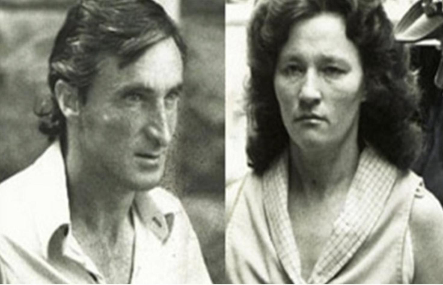 Mugshots of David and Catherine Birnie
