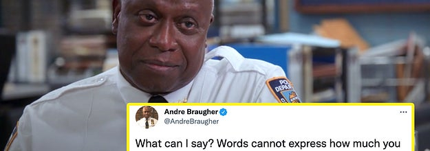 Andre Braugher as Holt in the finale and his goodbye tweet