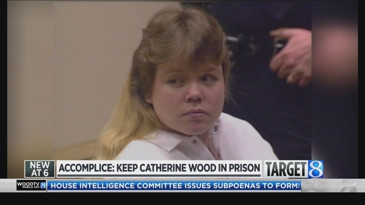 News footage of Catherine Wood at her parole hearing