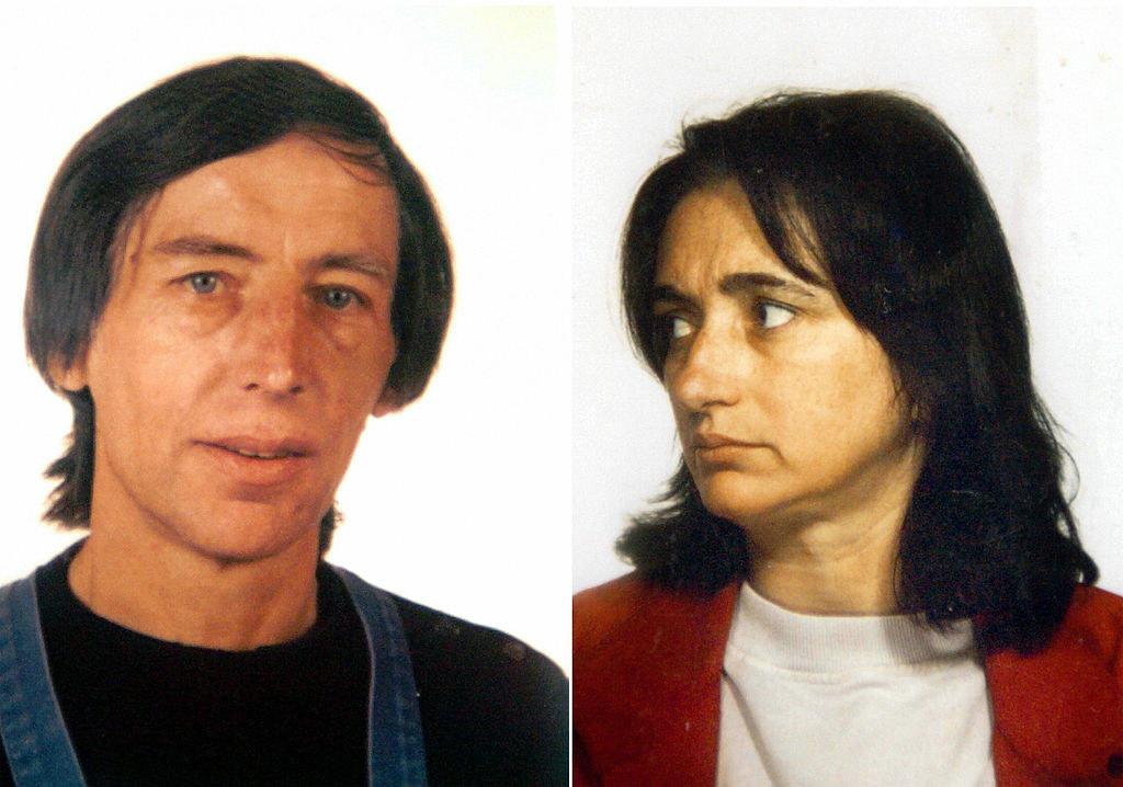 Mugshots ofMonique Olivier and Michel Fourniret