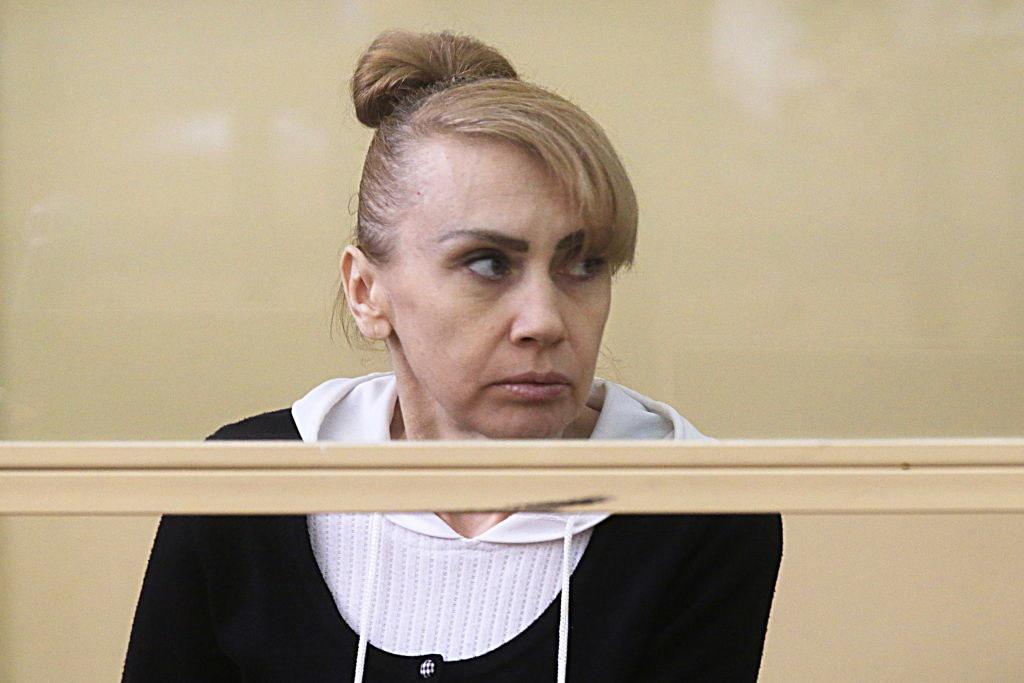 Inessa Tarverdiyeva sitting in court