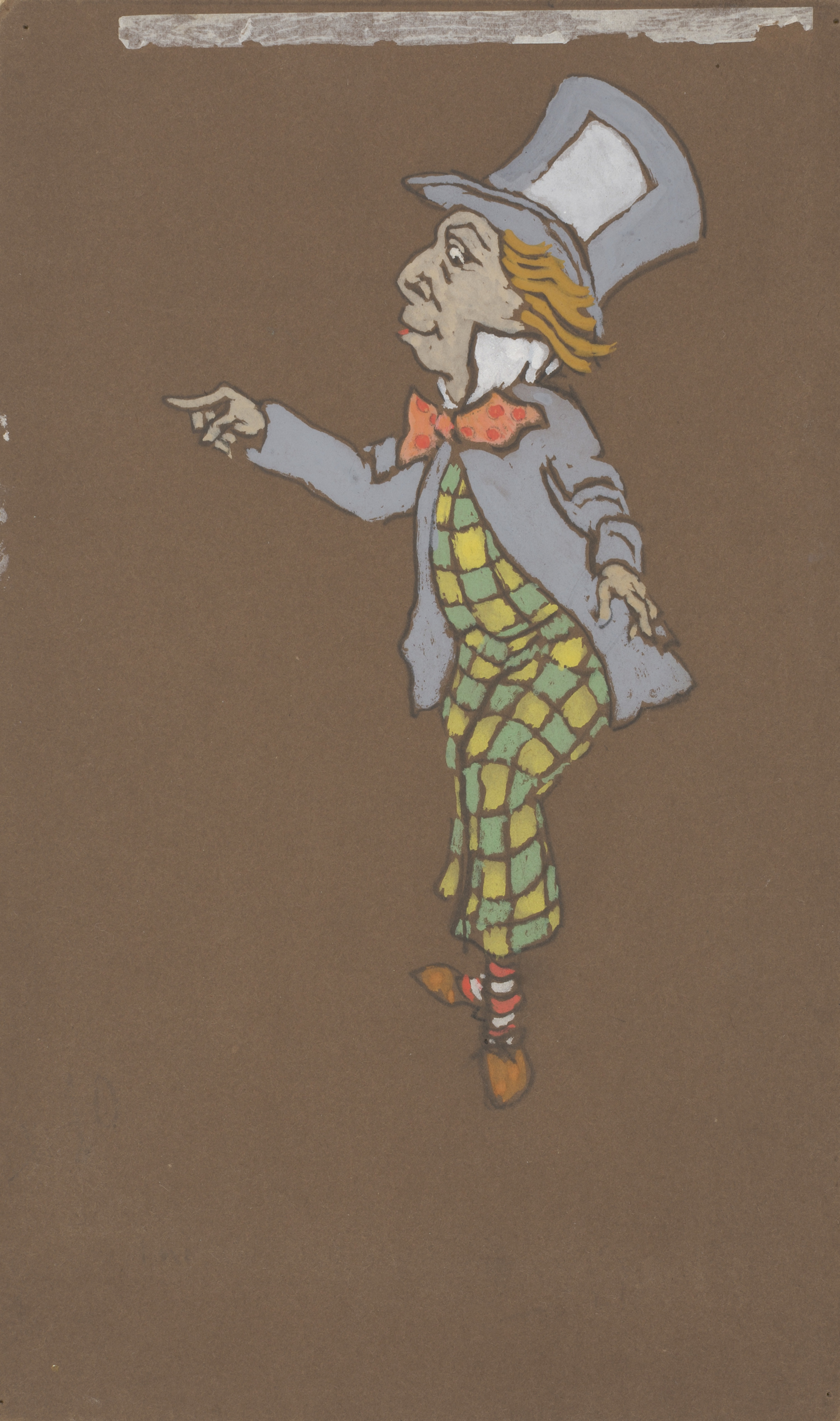 """Photo of cartoon caricature of Mad Hatter from the """"Alice in Wonderland"""" movie"""