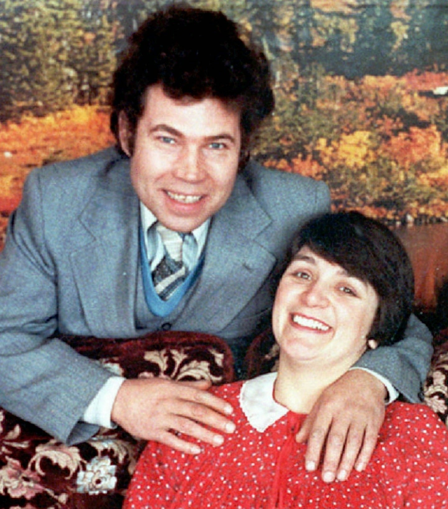 Rosemary and Fred West posing for a photo