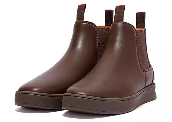 The boots in brown