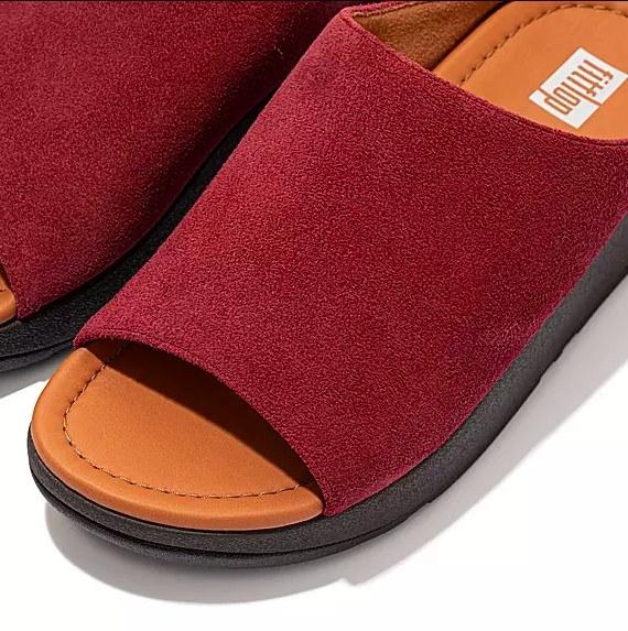 The maroon slides