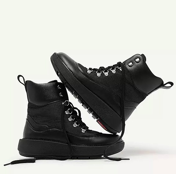 The black hiker style boots
