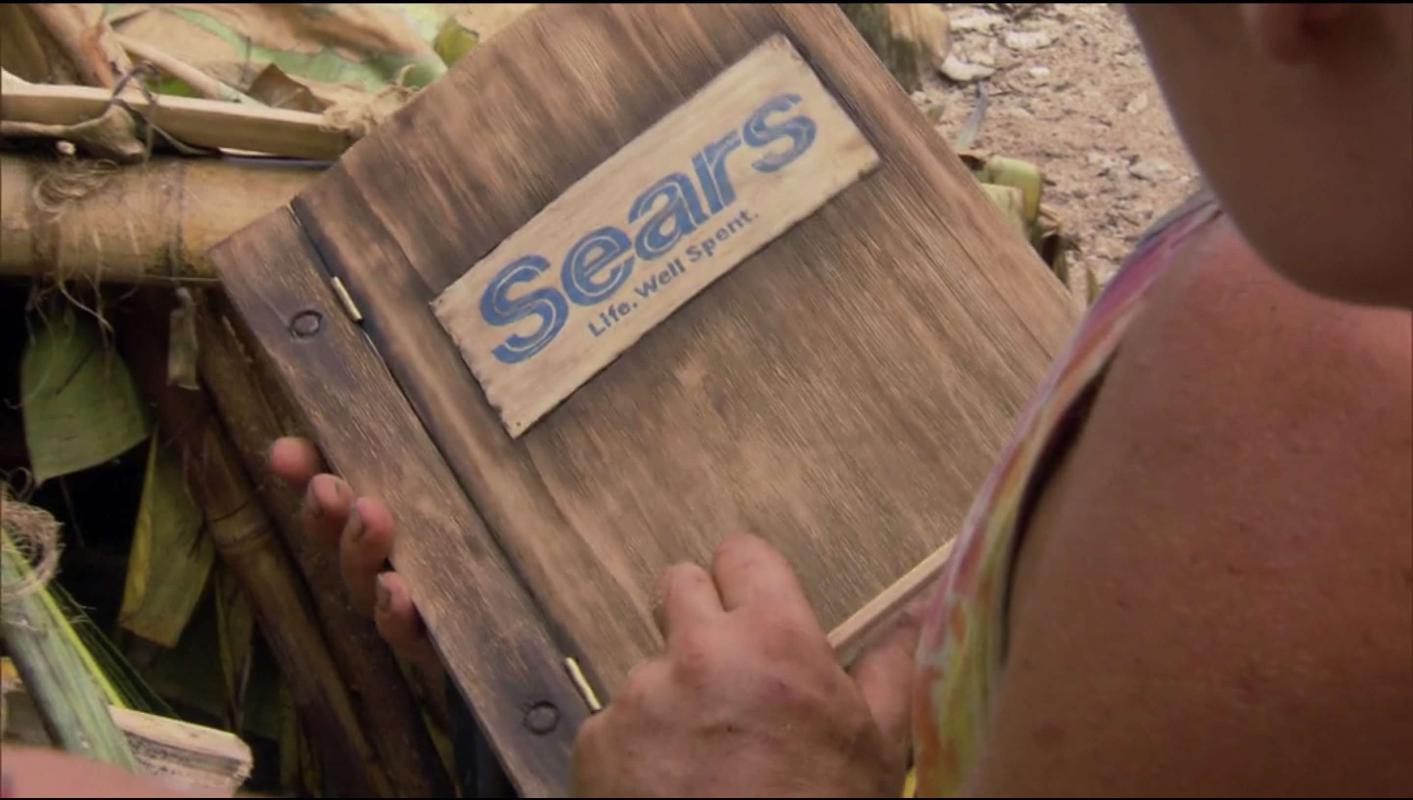 A wooden Sears catalogue