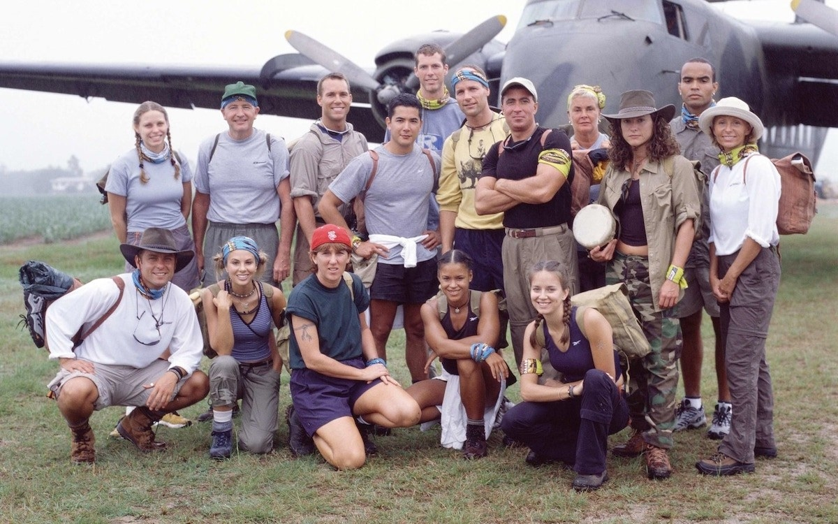 The cast of Survivor: The Australian Outback decked out inn Reebok apparel