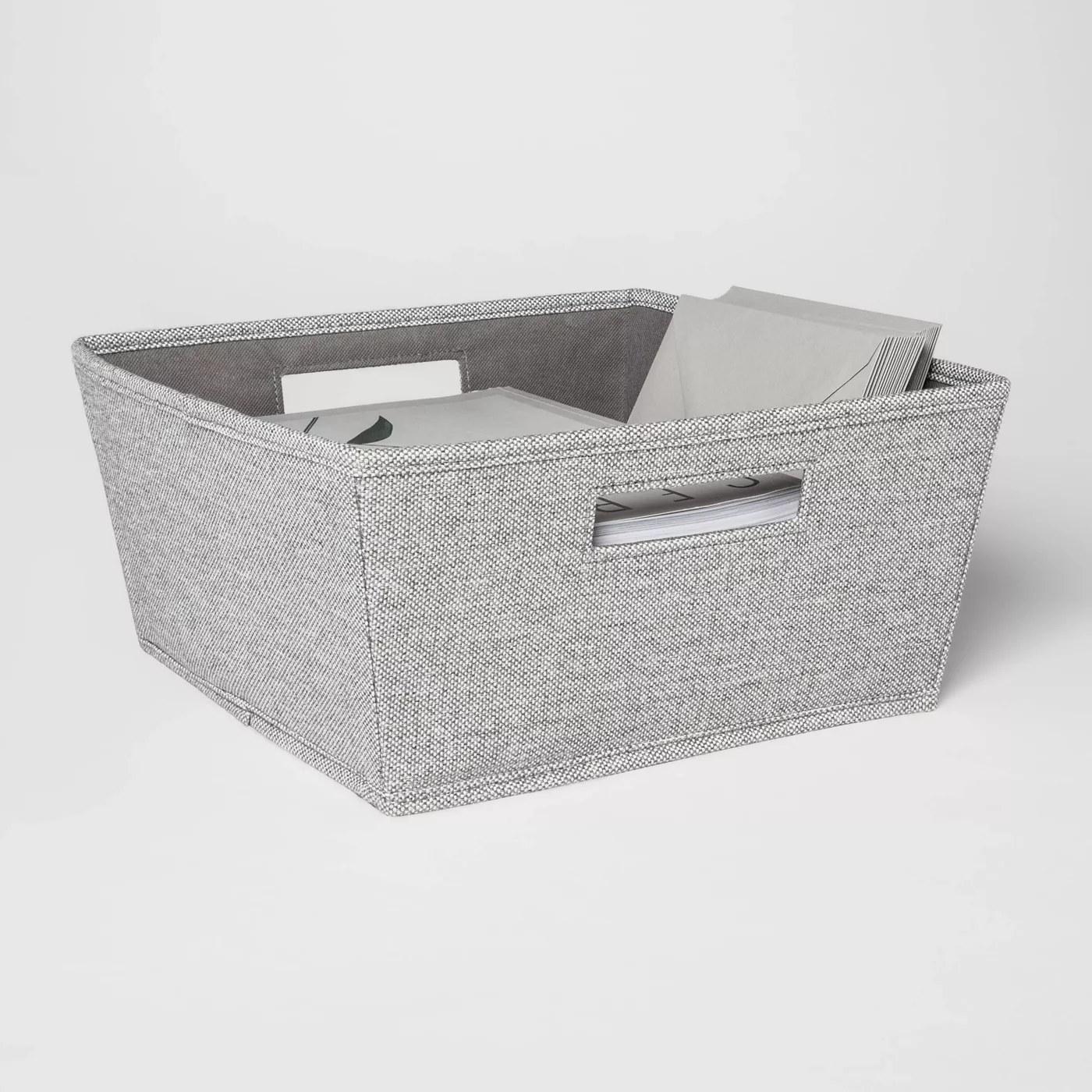 The gray bin