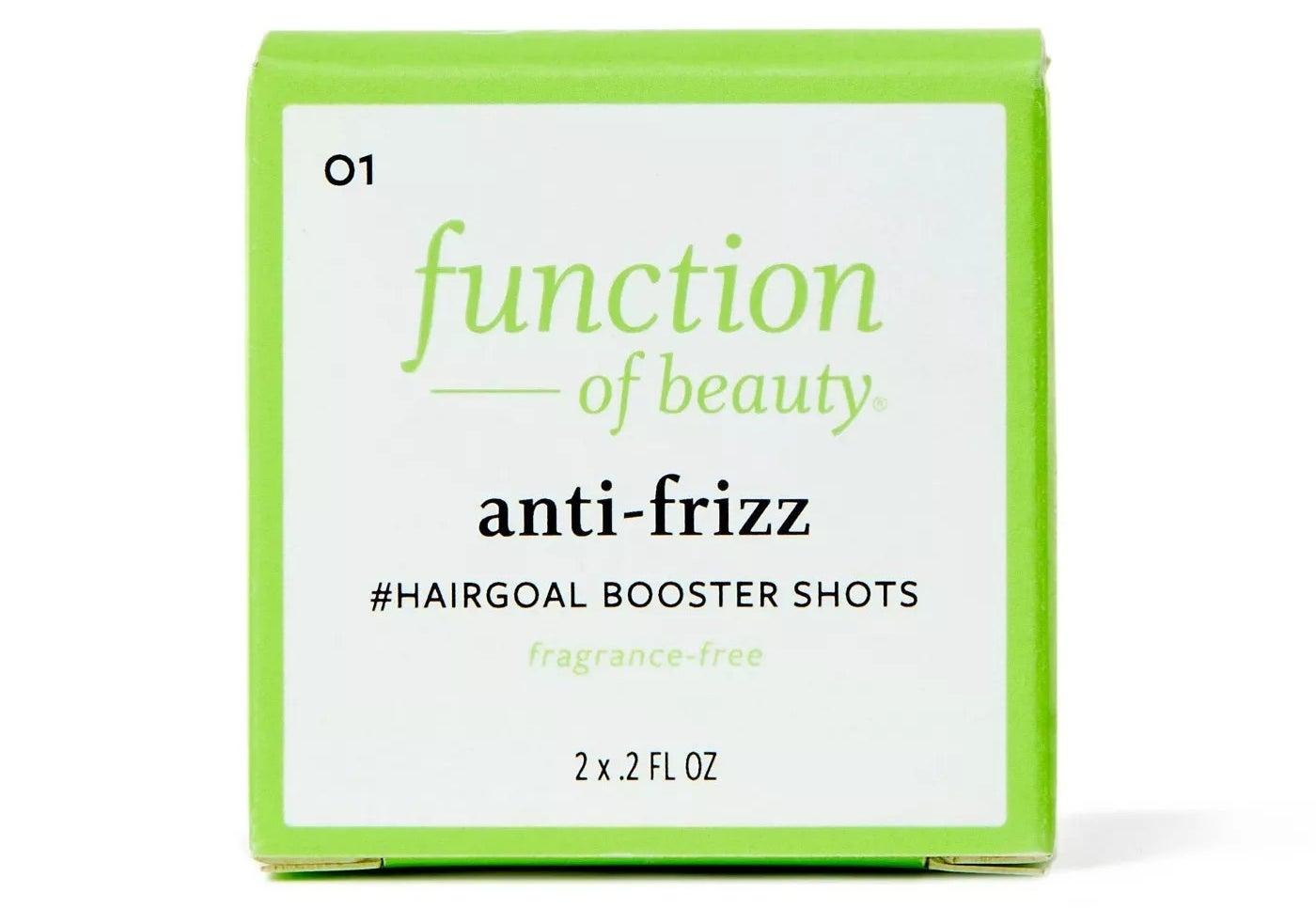 Function of Beauty anti-frizz #hairgoal booster shots