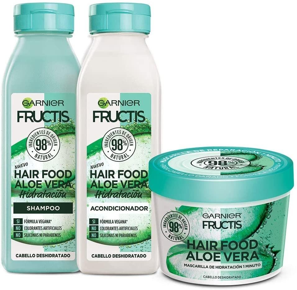 shampoo, acondicionador y mascarilla de alo vera
