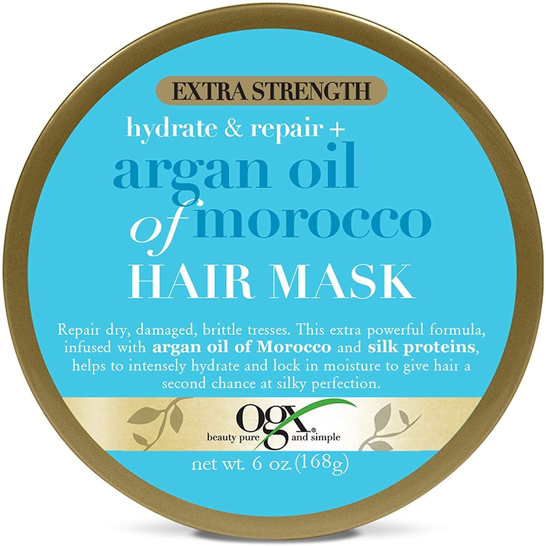 mascarilla para el pelo conaceite de argán y proteínas de seda