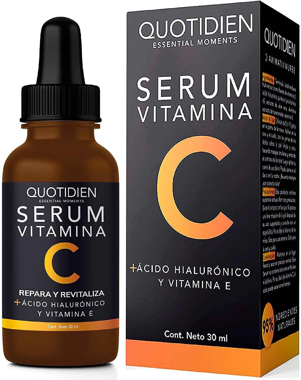 suero para la cara con vitamina C, E y ácido hialurónico