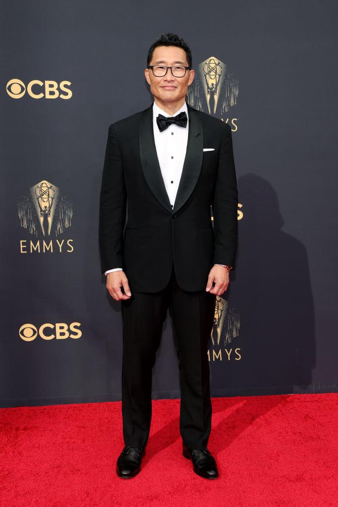 Daniel Dae Kim on the red carpet in a classic tux