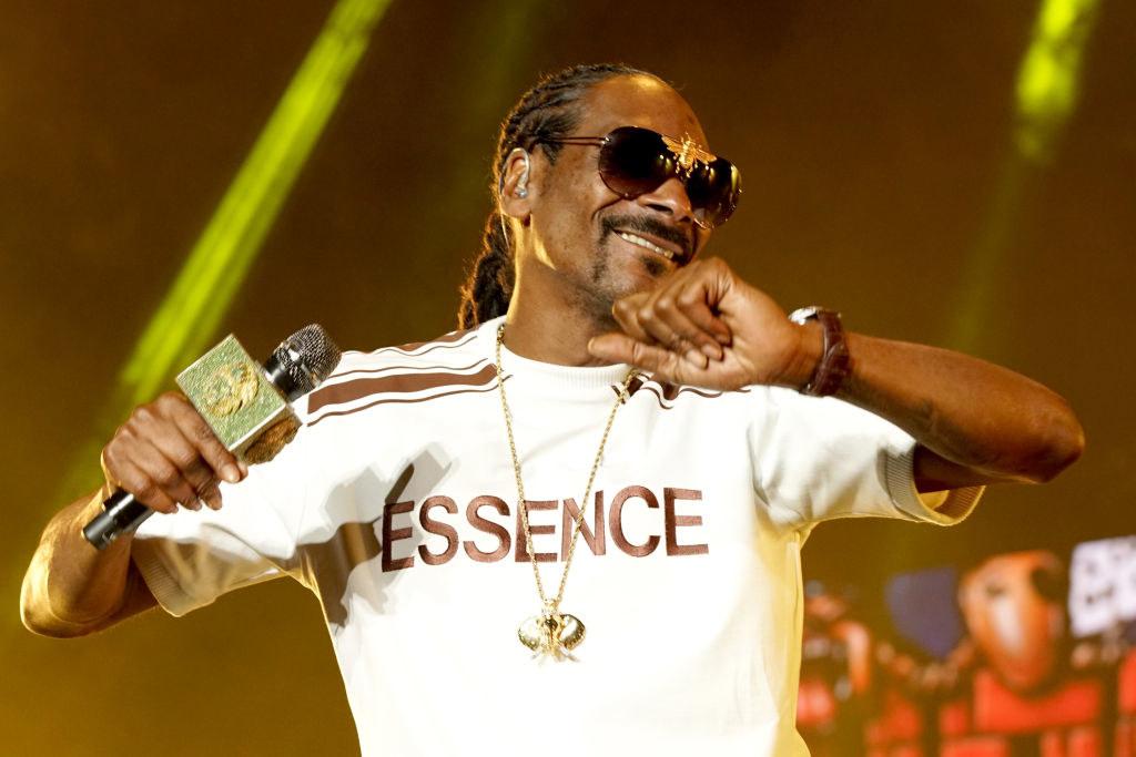 Snoop Dog during a concert