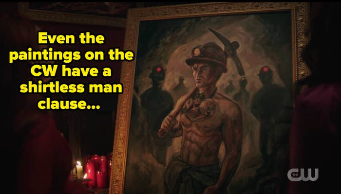 Portrait of archie with caption about the CW's shirtless men clause