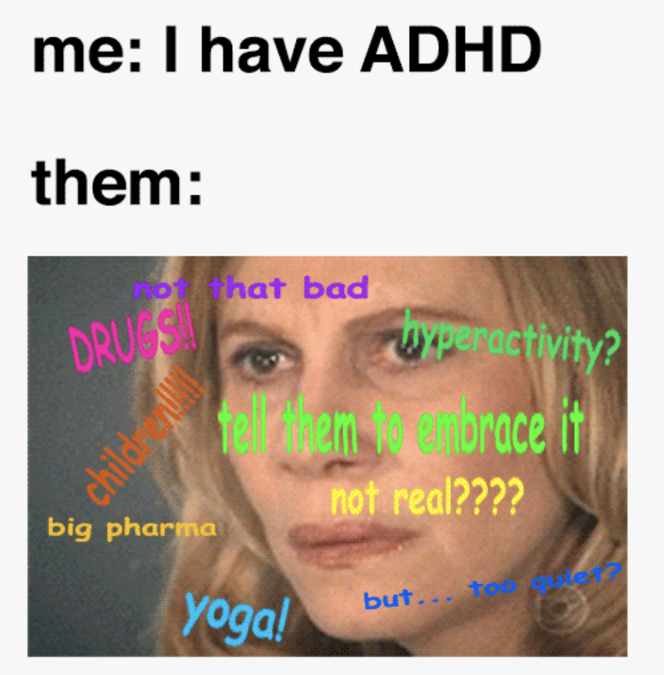 person thinking adhd stereotypes