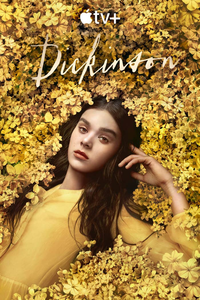 Promo photo for Dickinson featuring Emily lying among flowers