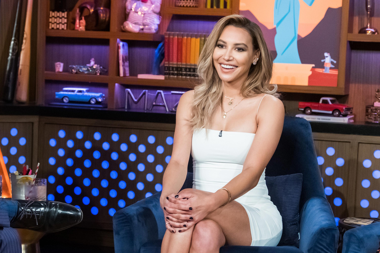 Naya smiling during an interview