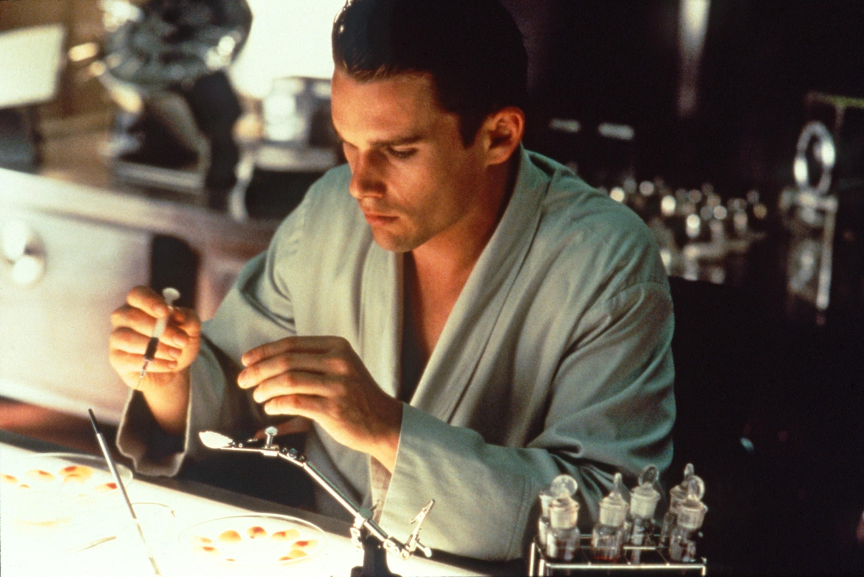 Ethan Hawke works in the lab