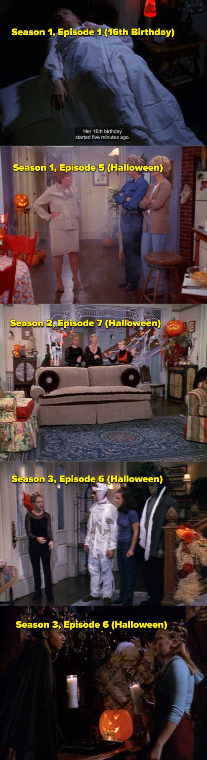 Pictures of halloween episodes from Seasons 1-4
