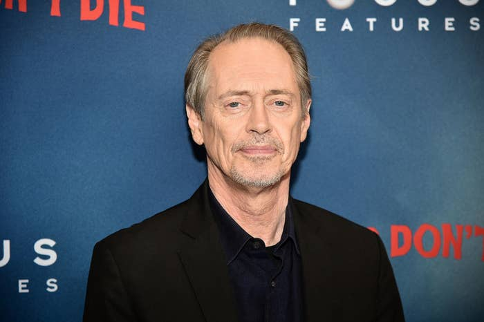 Steve Buscemi wearing a suit at a red carpet event