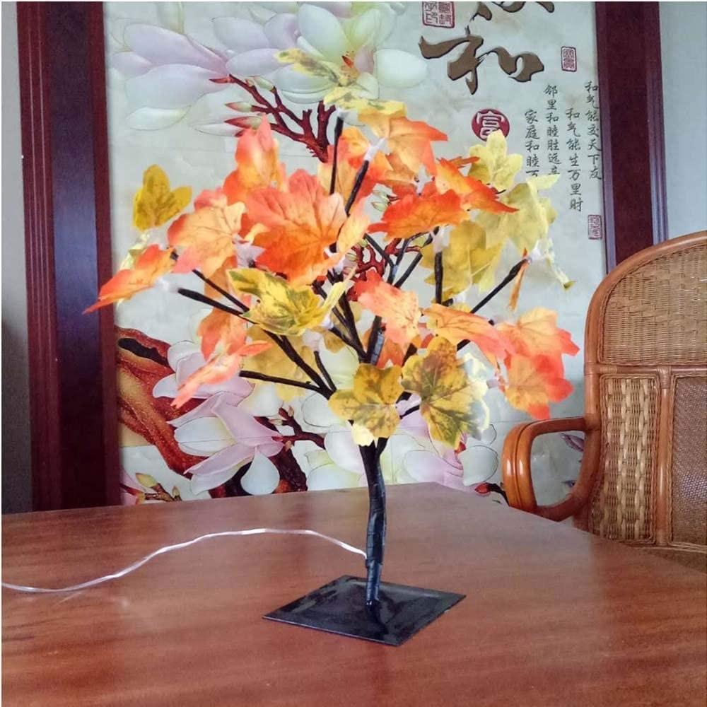 Lámpara de árbol otoñal
