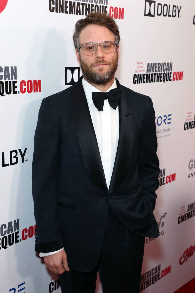 Seth posing at an American Cinematheque red carpet event