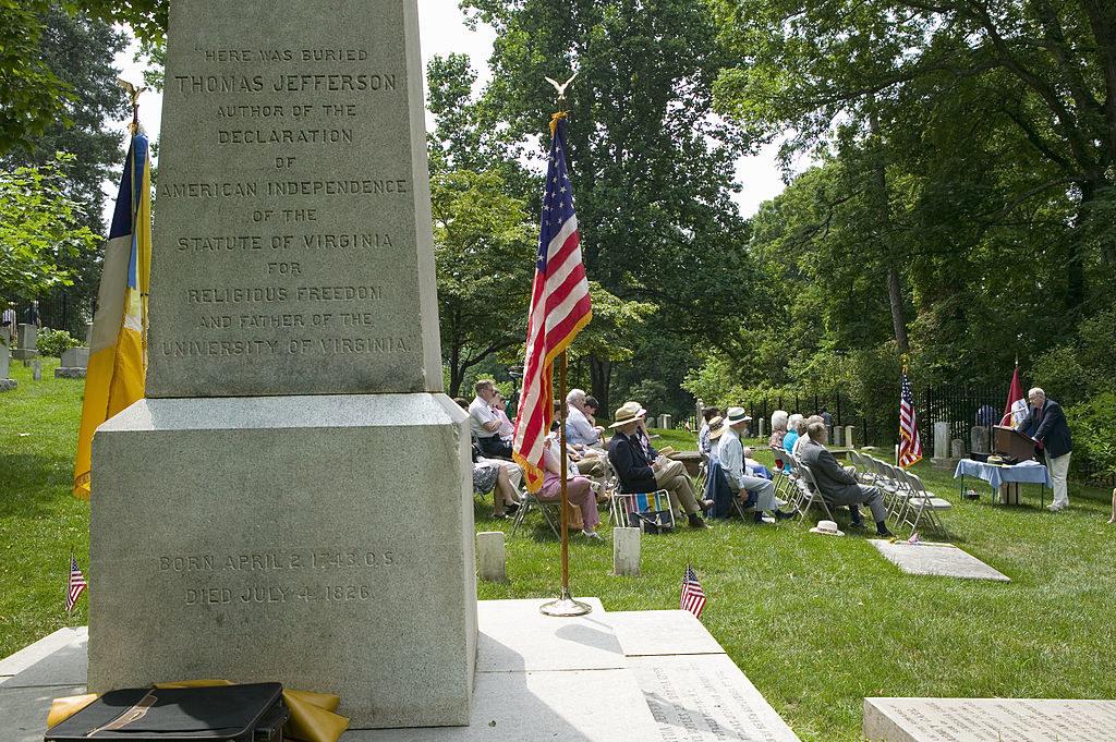 The grave of Thomas Jefferson