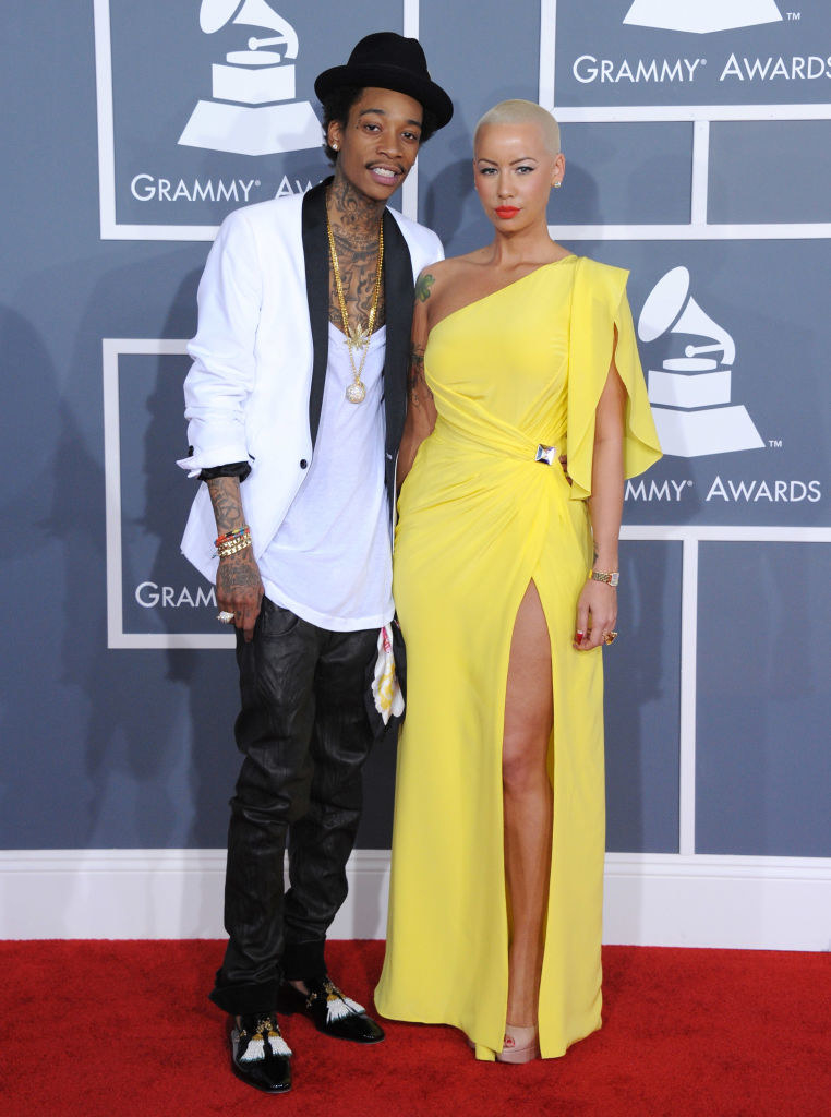 The rapper and model on the red carpet
