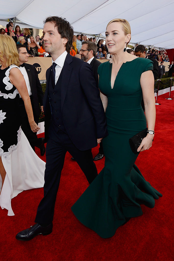 """Virgin Galactic exec and""""Titanic"""" actor walking on the red carpet"""