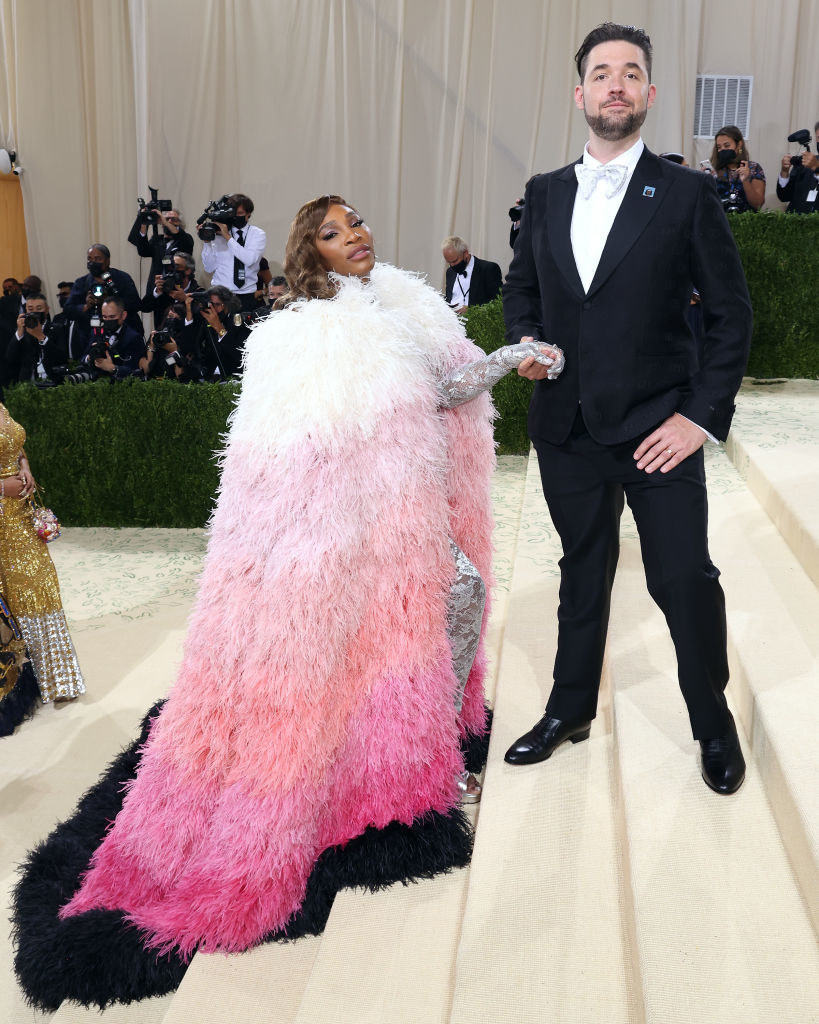 Tennis champion and Reddit cofounder on the Met Gala steps