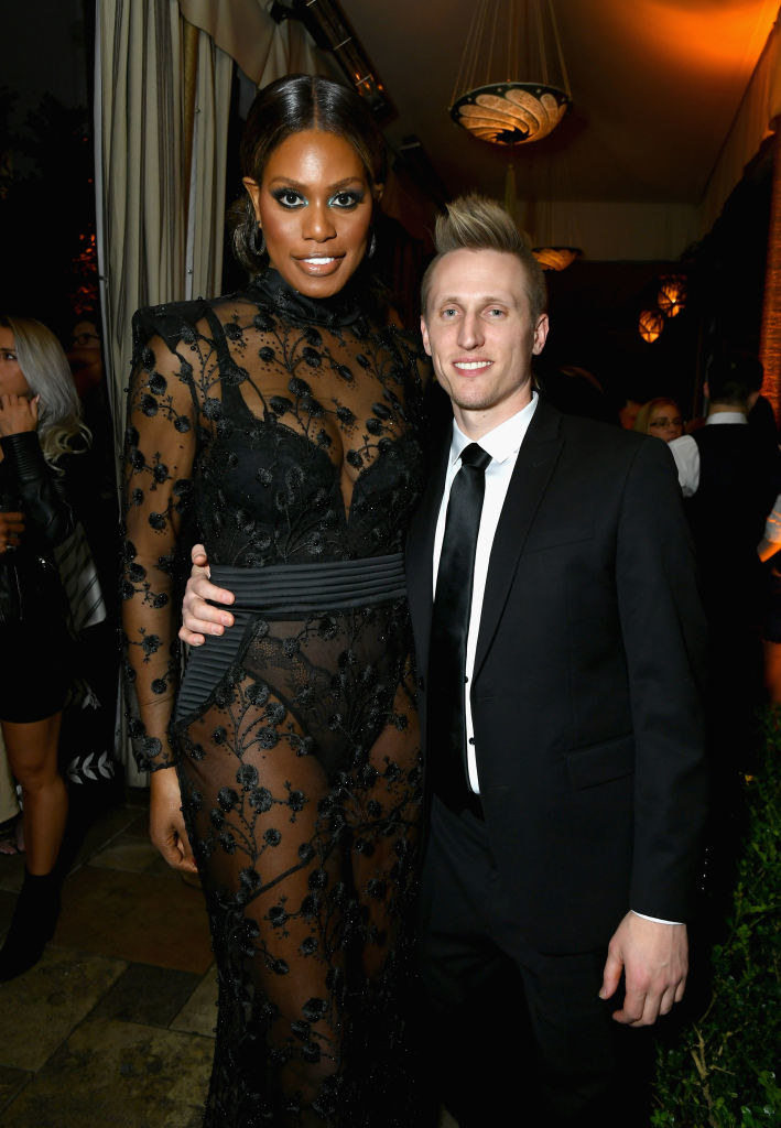 Laverne and Kyle standing together