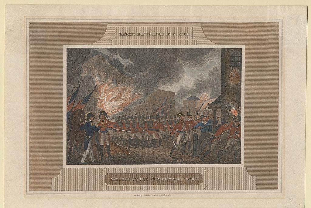 The British army burns down Washington D.C.