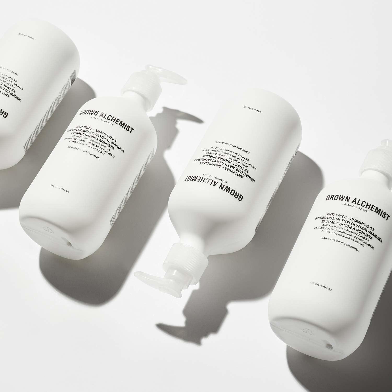 bottles lined up