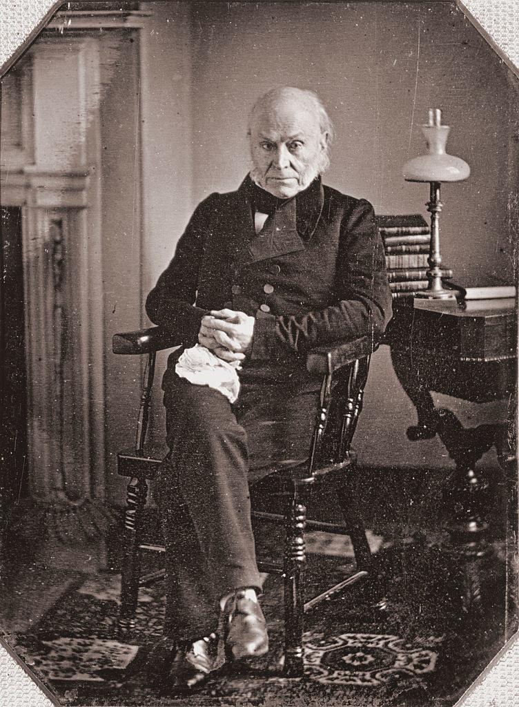 A daguerrotype of John Quincy Adams