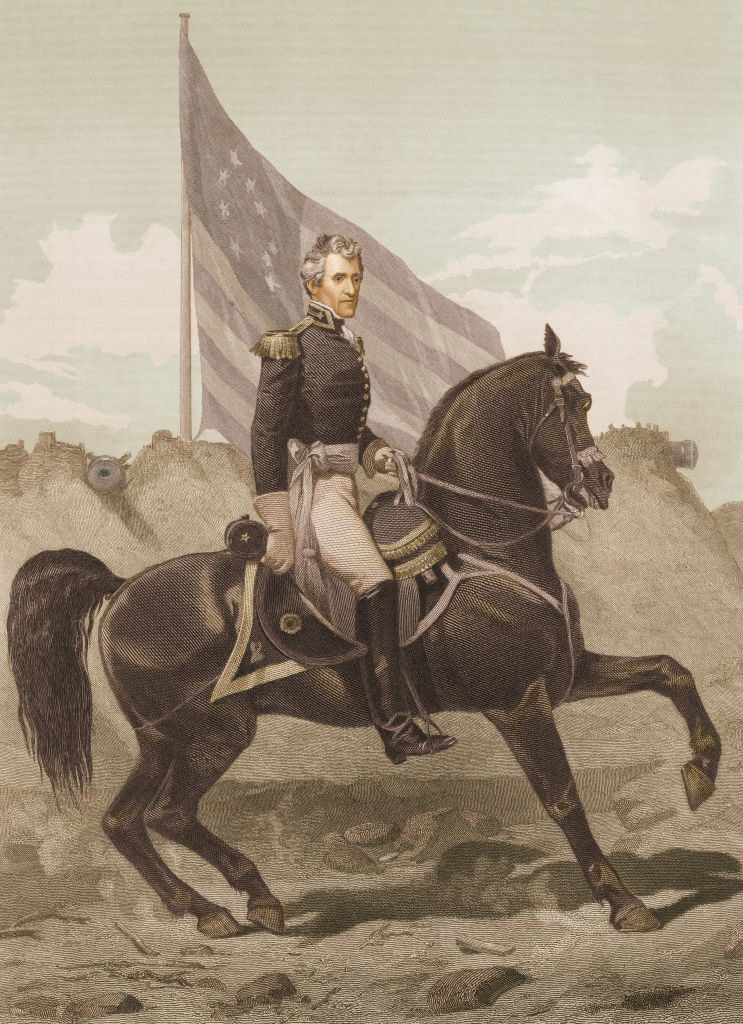 Andrew Jackson as a general going to war