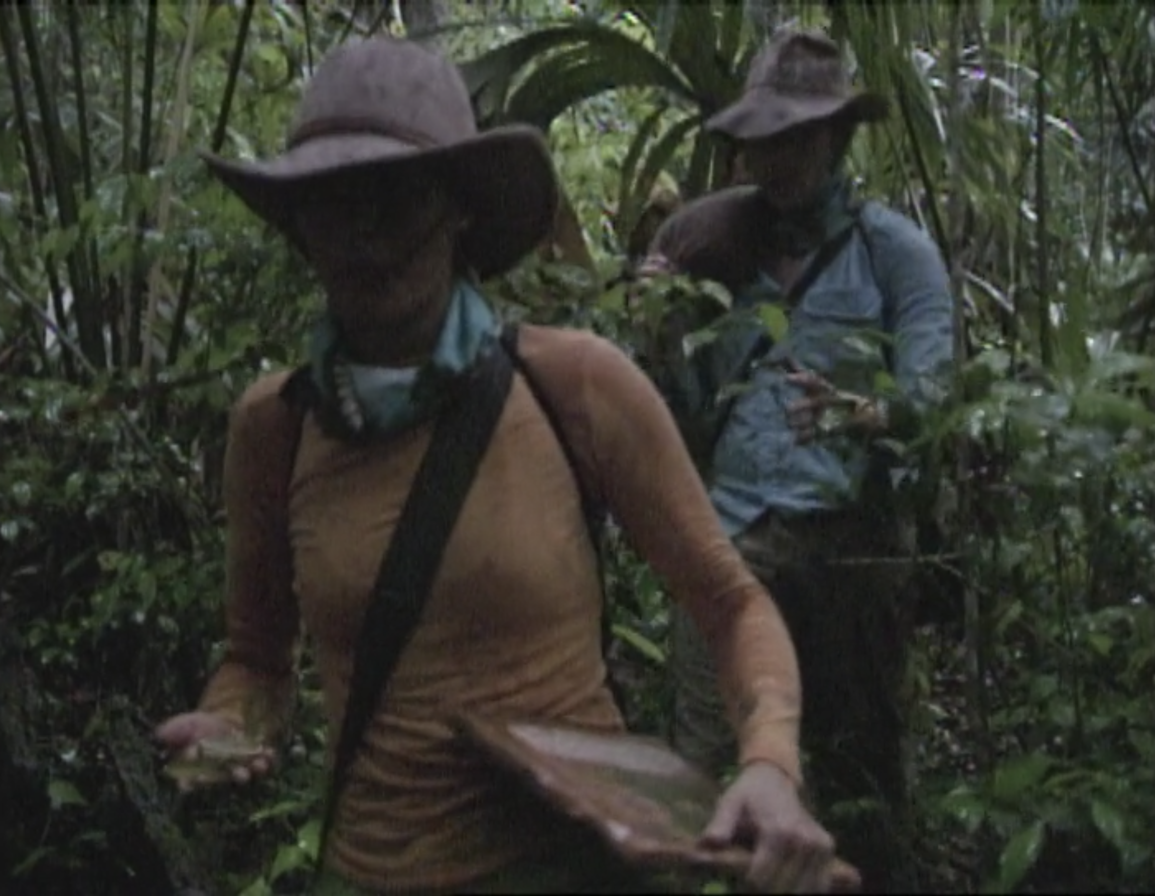 Stephanie LaGrossa leads her tribe on a long hiking challenge in Survivor: Guatemala