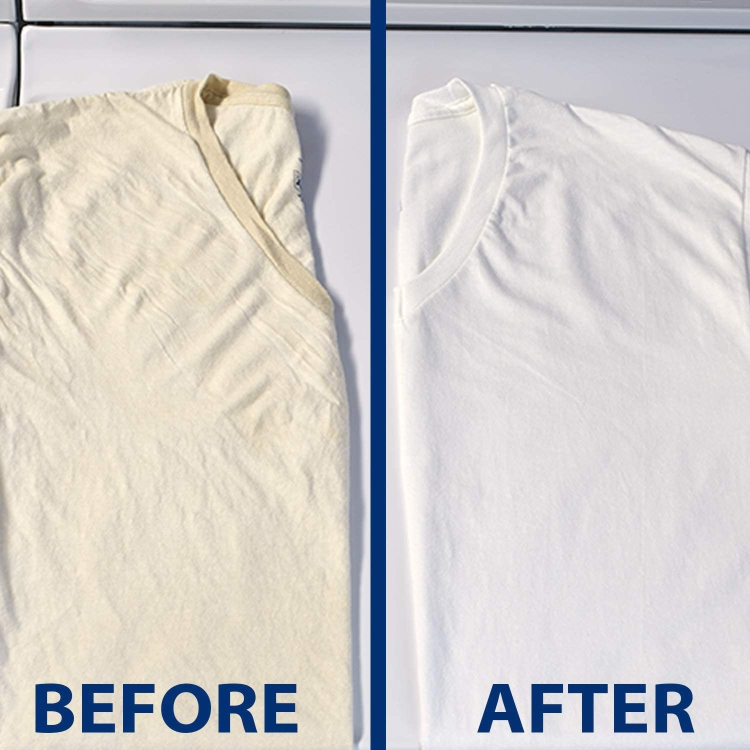 a before and after of a white shirt