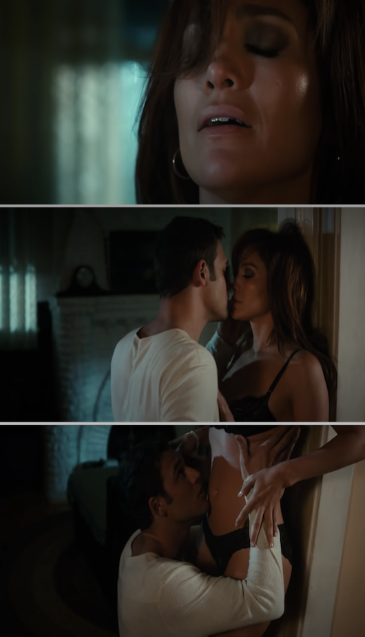"Jennifer Lopez and Ryan Guzman in a sex scene in ""The Boy Next Door"""