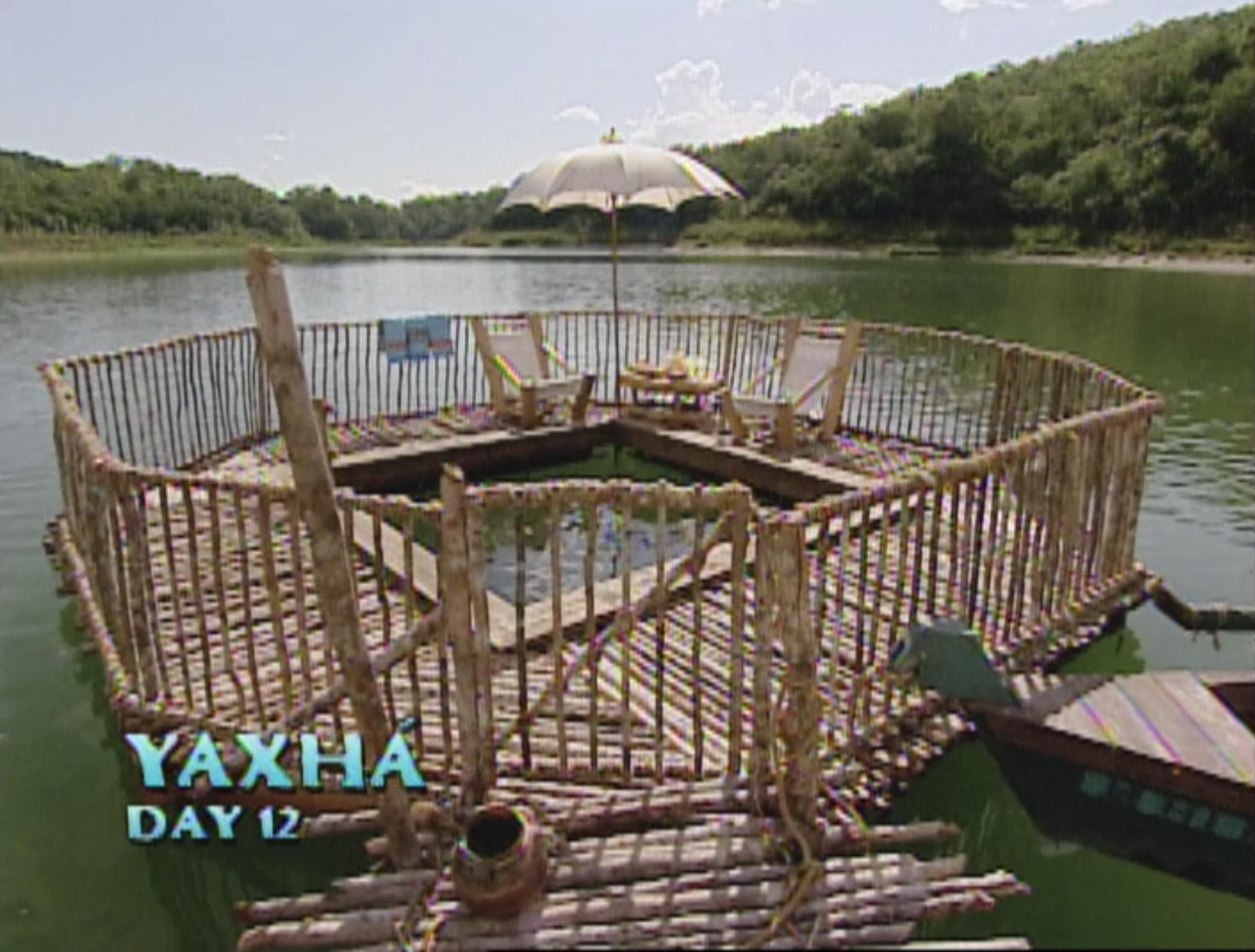 A crocodile cage so that the castaways can swim on Survivor: Guatemala