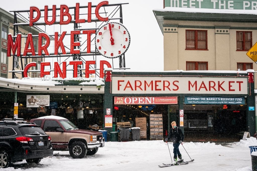 hipstery downtown market