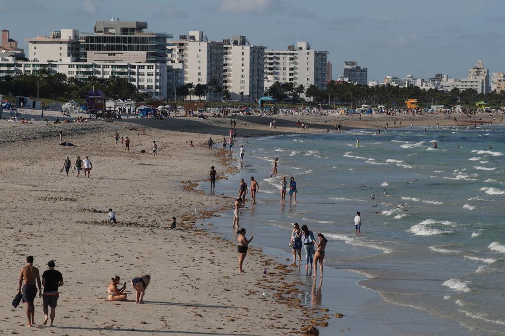 muggy Miami beach