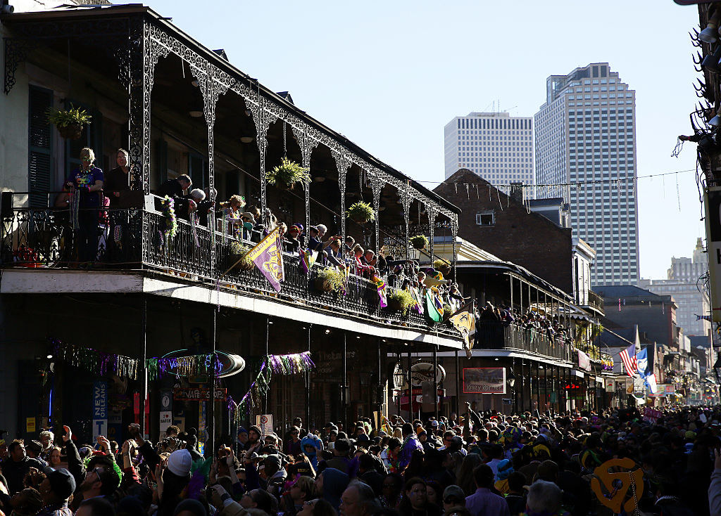 packed Bourbon Street