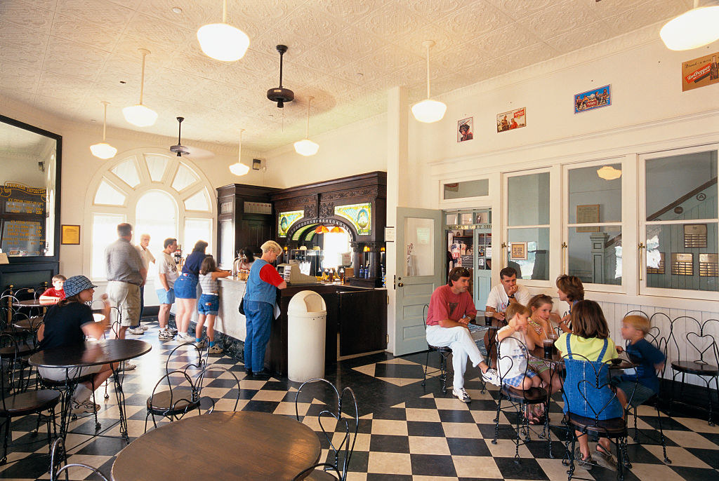 inside the Dr Pepper Museum is a diner