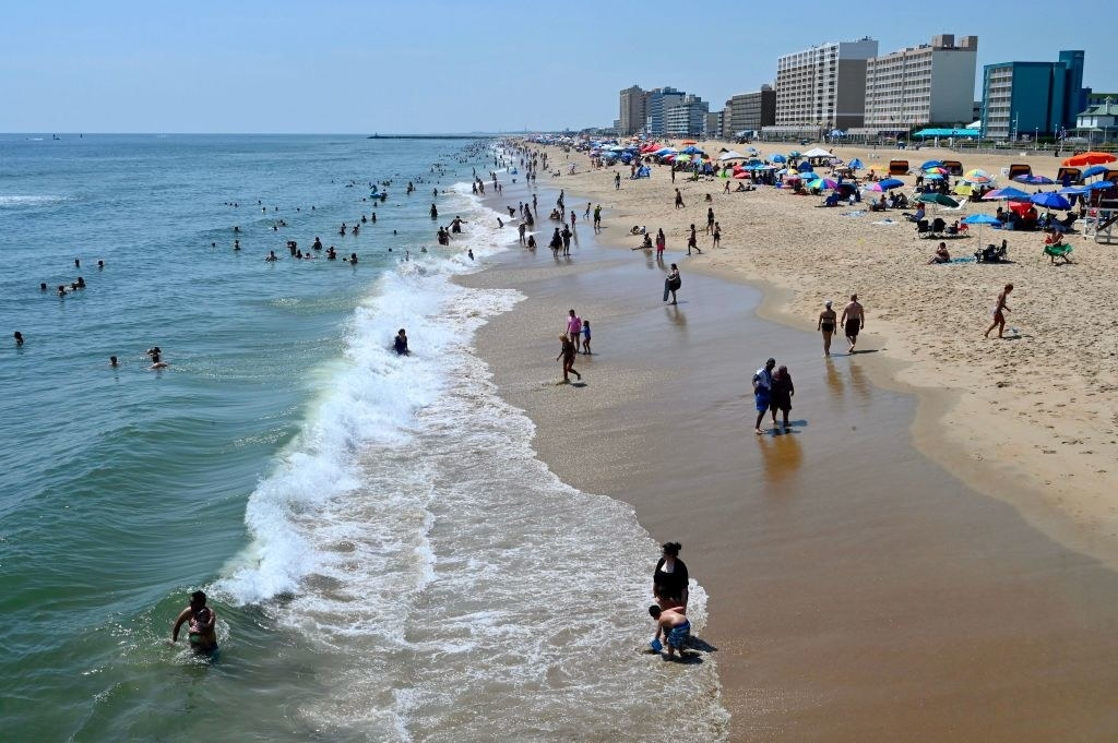 semi-busy beach