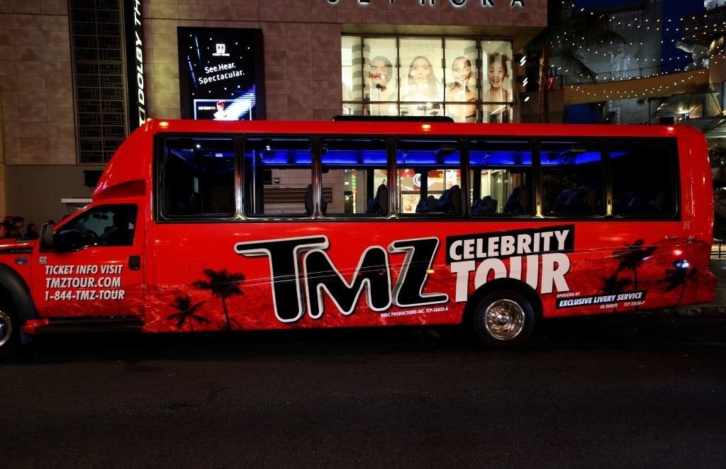 TMZ celebrity tour bus